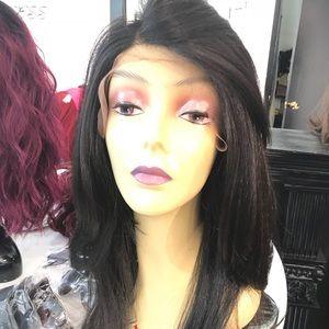 Accessories - Wig DARK very dark Brown Part Layers Lacefront wig